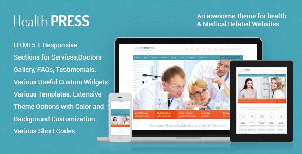 Health Press : Make Your Health Care Website Using Wordpress Theme