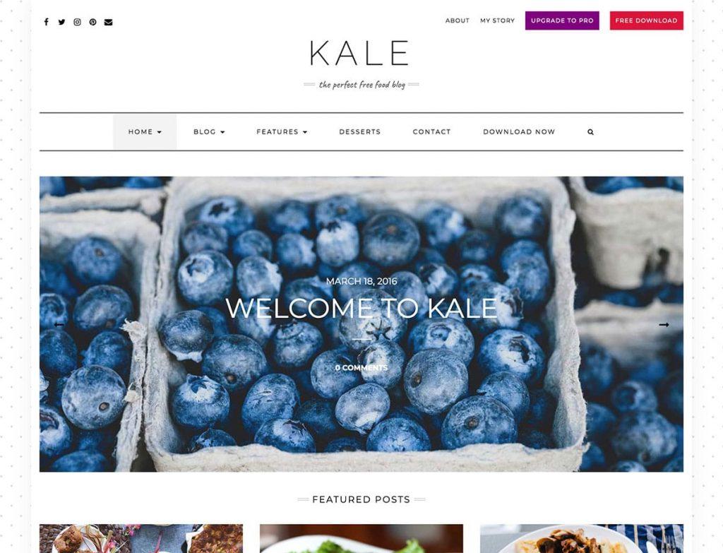 Kale Perfect Blog WP Theme