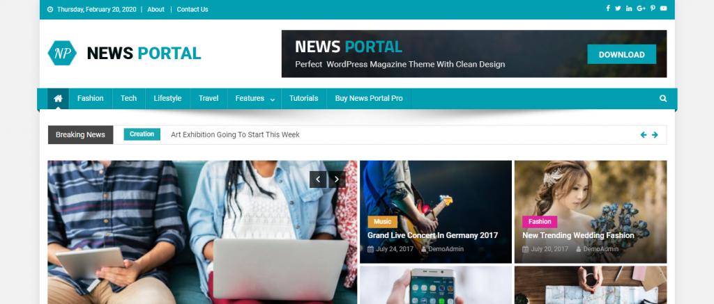 News Portal WP theme