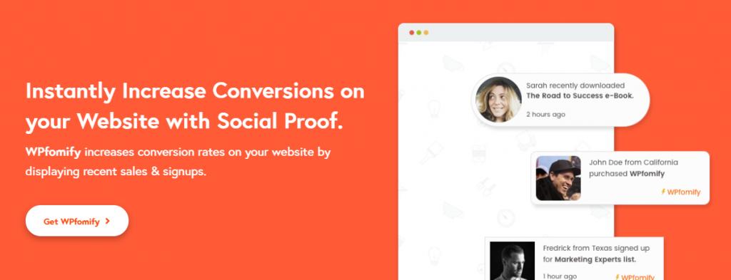 WpFomify - WP Social Proof Plugin