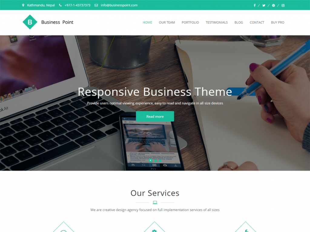 Business Point WP theme