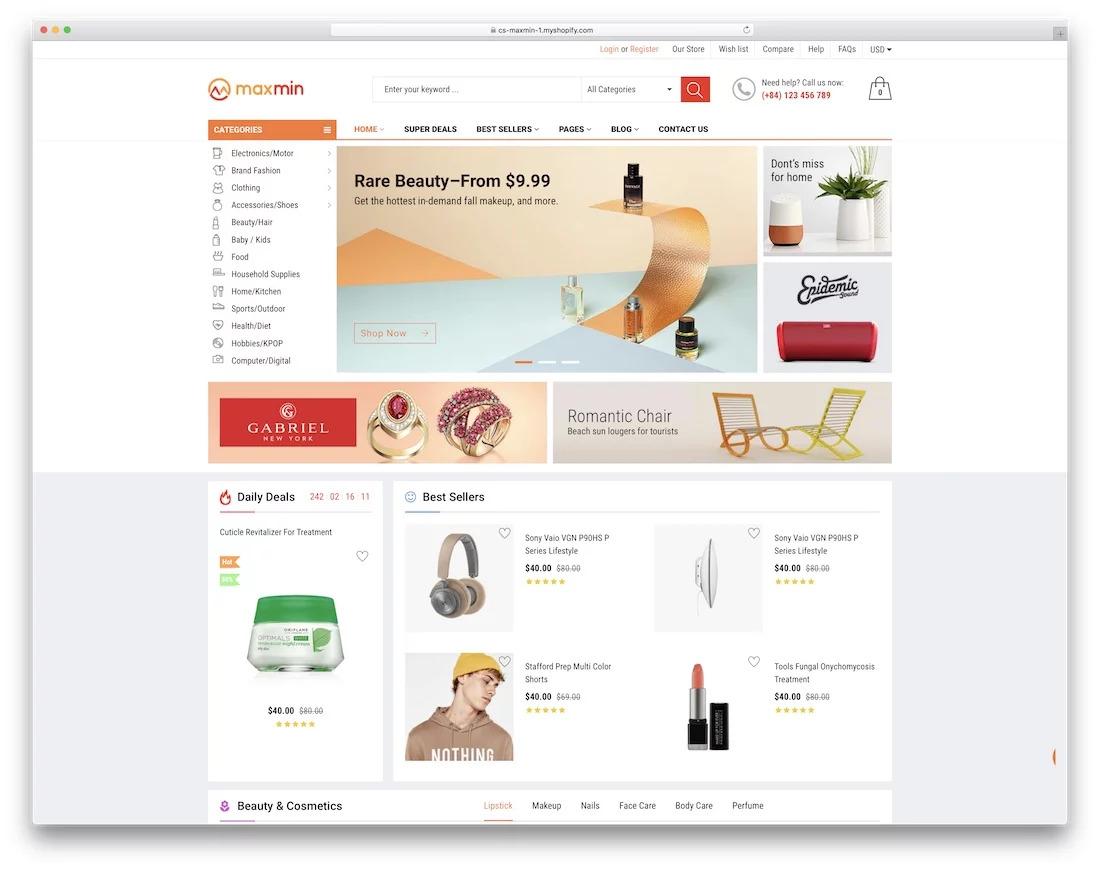 Maxmin Shopify theme