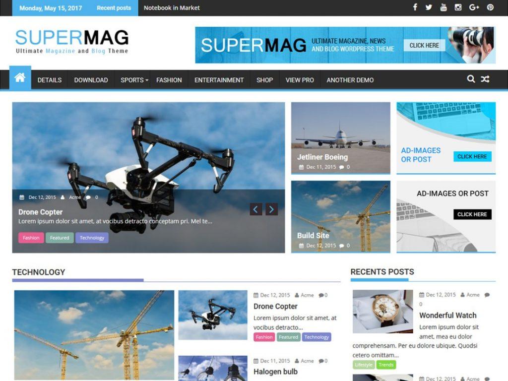 super Mag WP theme