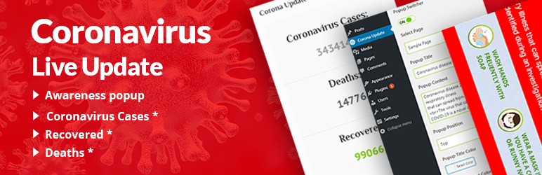 Coronavirus live update WP plugin