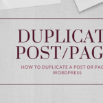 How to create duplicate page or post in Wordress?